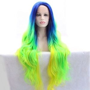 ✨BLUE GREEN OMBRÉ Colorful LaceFront wig *NWT*